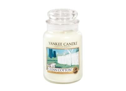 Αρωματικό Κερί σε Γυάλινο Δοχείο Yankee Clean Cotton Large