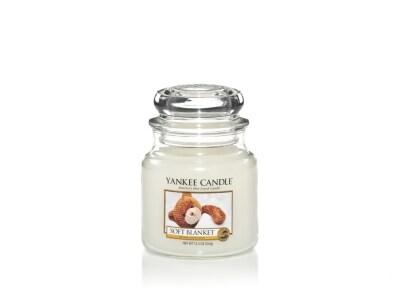 Αρωματικό Κερί σε Γυάλινο Δοχείο Yankee Soft Blanket Medium