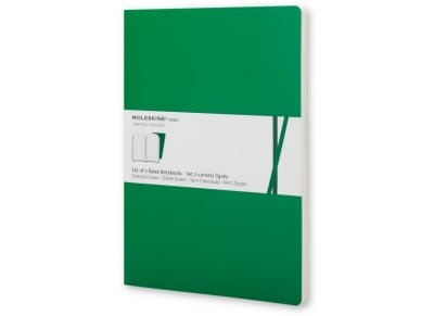 Σημειωματάριο Moleskine Volant Extra Large Ruled Πράσινο (2 τεμάχια)
