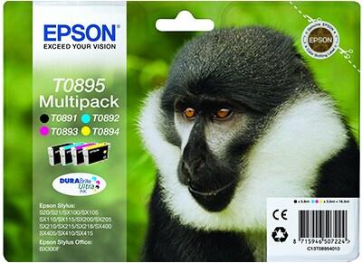 Μελάνι Μαύρο & Έγχρωμο Epson T0895