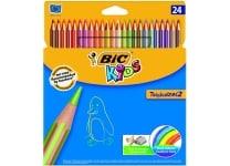 Ξυλομπογιές BIC Tropicolors 2 (24 τεμάχια)