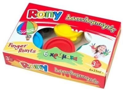 Δακτυλοχρώματα Rony 6x35gr