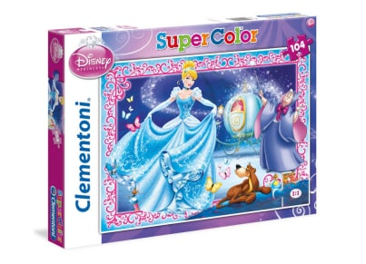 Puzzle Clementoni Super Color: Σταχτοπούτα 104 Maxi κομμάτια (1210-27916)