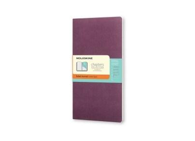 Σημειωματάριο Moleskine Chapters Journal - Ruled - Medium - Μοβ
