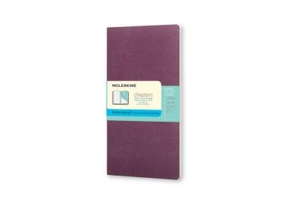 Σημειωματάριο Moleskine Chapters Journal - Dotted - Medium - Μοβ