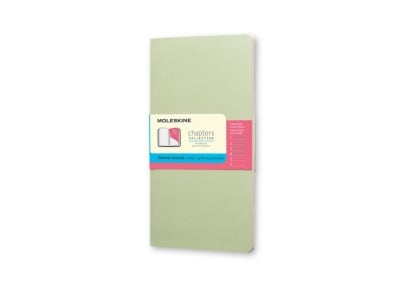 Σημειωματάριο Moleskine Chapters Journal - Dotted - Medium - Πράσινο