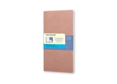 Σημειωματάριο Moleskine Chapters Journal - Dotted - Pocket - Ροζ