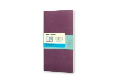 Σημειωματάριο Moleskine Chapters Journal - Dotted - Pocket - Μοβ