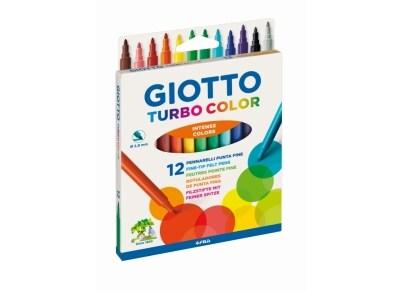 Μαρκαδόροι Ζωγραφικής Giotto Turbo Color Hangbox (12 τεμάχια)