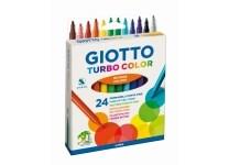 Μαρκαδόροι Ζωγραφικής Giotto Turbo Color Hangbox (24 τεμάχια)