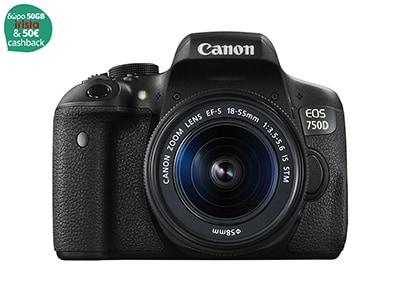 DSLR Canon EOS 750D 18-55mm - Μαύρο