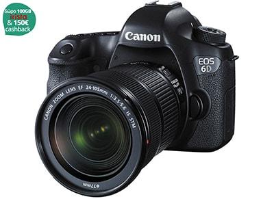 Canon EOS 6D Kit EF 24 - 105 mm - 20.2 Mpixels - Φωτογραφική μηχανή Μαύρο