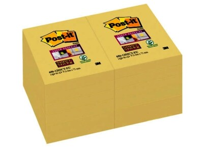 Post-it Χαρτάκια Σημειώσεων 3Μ Super Sticky 656-12SSCY 47.6x73mm
