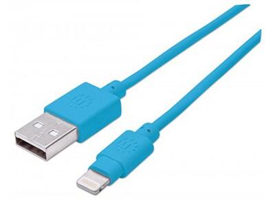 Καλώδιο Lightning to USB Manhattan 391467 Μπλε