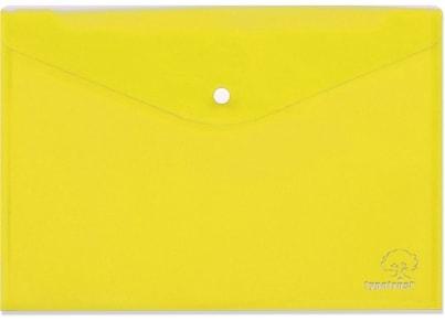 Φάκελος με Κουμπί Typotrust A4 Κίτρινος