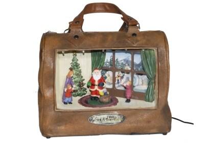 Χριστουγεννιάτικο Διακοσμητικό ΜΜΜ Τσάντα Με Φωτάκια