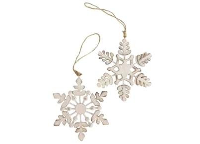 Χριστουγεννιάτικο Στολίδι Heaven Sends Ξύλινη Νιφάδα Χιονιού (1 τεμάχιο)