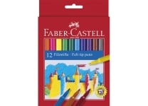 Μαρκαδόροι Λεπτοί Faber Castell (12 τεμάχια)