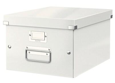 Κουτί Αρχειοθέτησης LEITZ WOW Click & Store Medium Λευκό