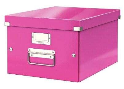 Κουτί Αρχειοθέτησης LEITZ WOW Click & Store Medium Φούξια