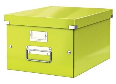 Κουτί Αρχειοθέτησης LEITZ WOW Click & Store Medium Λαχανί