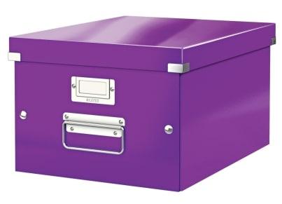 Κουτί Αρχειοθέτησης LEITZ WOW Click & Store Medium Μοβ
