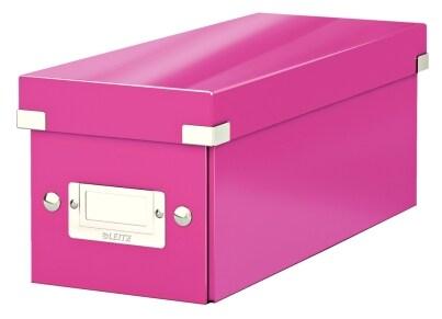 Κουτί Αρχειοθέτησης CD LEITZ WOW Click & Store Φούξια
