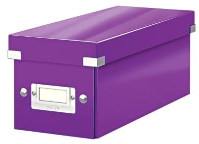 Κουτί Αρχειοθέτησης CD LEITZ WOW Click & Store Μοβ