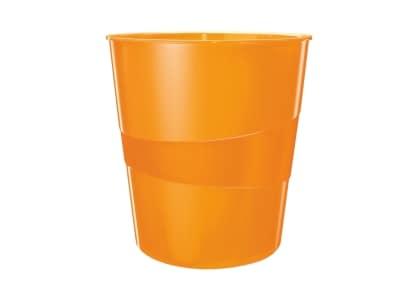 Κάδος Γραφείου LEITZ WOW 15L Πορτοκαλί