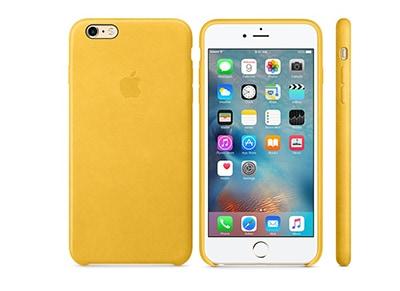 Θήκη iPhone 6s Plus - Apple Leather Case Marigold (MMM32ZM/A) apple   αξεσουάρ iphone   θήκες