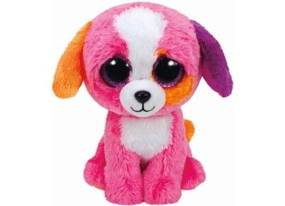 Χνουδωτό Σκύλος TY Beanie Boos Ροζ 15cm (1607-37188)