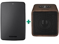 "Εξ. σκληρός δίσκος Toshiba Canvio Basics HDTB310EK3AA 1TB 2.5"" USB 3.0 Μαύρο & Portable Wireless Stereo Speaker"