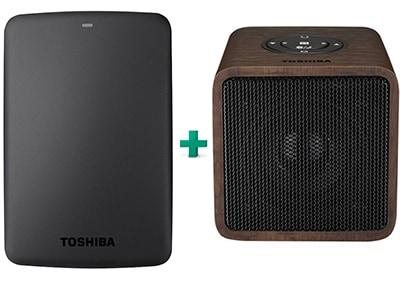 """Εξ. σκληρός δίσκος Toshiba Canvio Basics HDTB310EK3AA 1TB 2.5"""" USB 3.0 Μαύρο & Portable Wireless Stereo Speaker"""