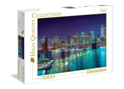 Puzzle Clementoni High Quality Collection: Η Νέα Υόρκη τη νύχτα 3000 κομμάτια (1220-33544)