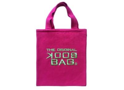 """Tσάντα Βιβλίου """"The Original Book Bag"""" - Small - Φούξια/Πράσινο"""