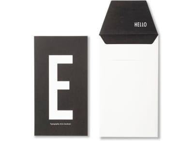 Ευχετήρια Κάρτα Design Letters - Letter E
