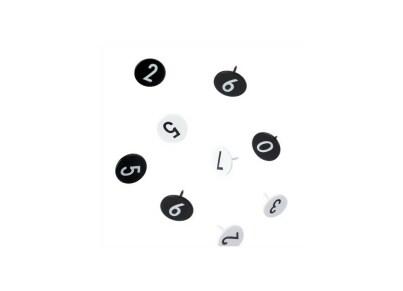 Μεταλλικές Πινέζες 0-9 Design Letters - 20 τεμάχια