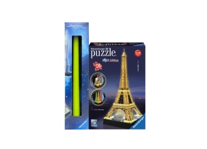 Λαμπάδα 3D Puzzle  Ravensburger Πύργος του Άιφελ Night Edition - 216 κομμάτια