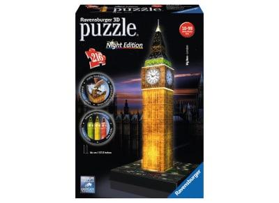 3D Puzzle Ravensburger Μπιγκ Μπεν Night Edition - 216 κομμάτια