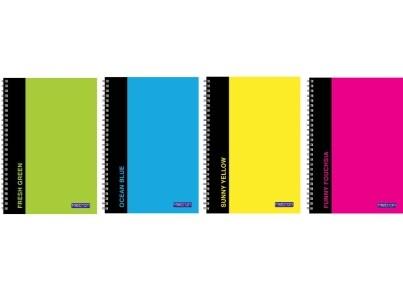 Τετράδιο Σπιράλ Metron Colours 17x25cm 2 Θεμάτων 70 Φύλλα