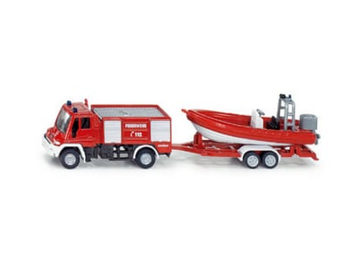 Μινιατούρα Πυροσβεστικό Όχημα με Βάρκα Siku