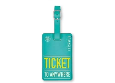 Luggage Tag Ticket to Anywhere Moses