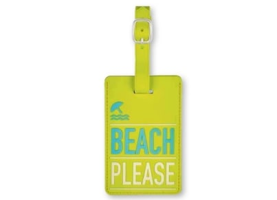 Luggage Tag Beach Please Moses