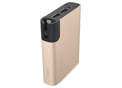 Powerbank USB Belkin MixIt UP 6600 mAh 2.4A Χρυσό (F8M992btGLD) τηλεφωνία   αξεσουάρ κινητών   powerbanks
