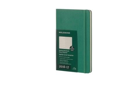 Moleskine Ημερολόγιο 18μηνο 2016 Εβδομαδιαίο Οριζόντιο Hard Cover Large Malachite Green