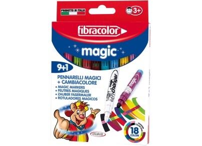 Μαρκαδόροι Ζωγραφικής Fibracolor 9+1