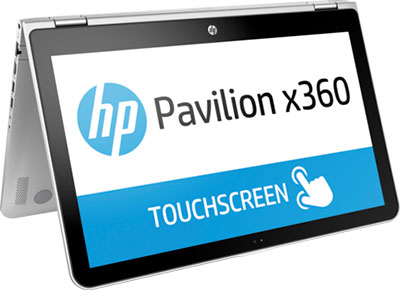 "Laptop HP Pavilion x360 15-bk000nv - 15.6"" (i5-6200U/4GB/500GB/ HD) υπολογιστές   laptops"