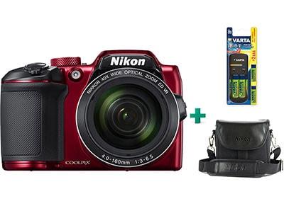 Compact Nikon Coolpix B500 & Μπαταρίες & Θήκη - Κόκκινο