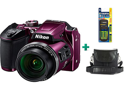 Compact Nikon Coolpix B500 - Μωβ & Θήκη & Μπαταρίες