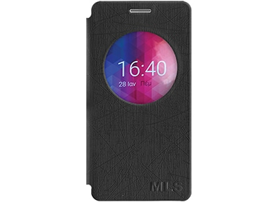 Θήκη MLS IQTalk Color 3 4G - MLS IQTalk Color 3 4G Smart Cover Μαύρο 11.CC.520.1 τηλεφωνία   tablets   αξεσουάρ κινητών   θήκες